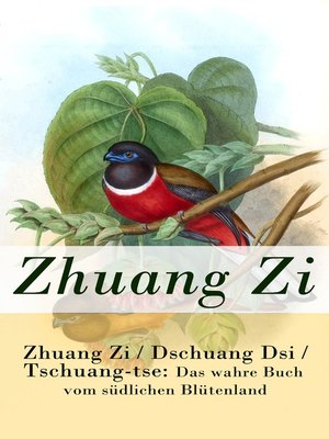 cover image of Zhuang Zi / Dschuang Dsi / Tschuang-tse
