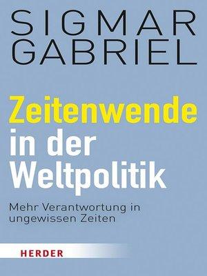 cover image of Zeitenwende in der Weltpolitik