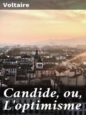 cover image of Candide, ou, L'optimisme