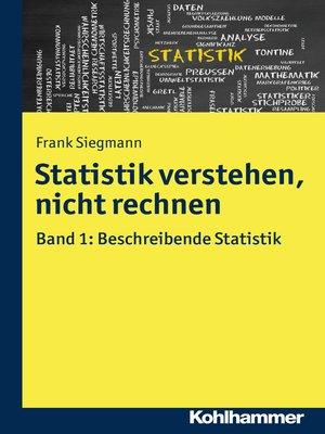 cover image of Statistik verstehen, nicht rechnen