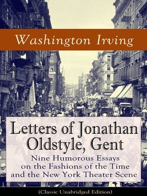 cover image of Letters of Jonathan Oldstyle, Gent