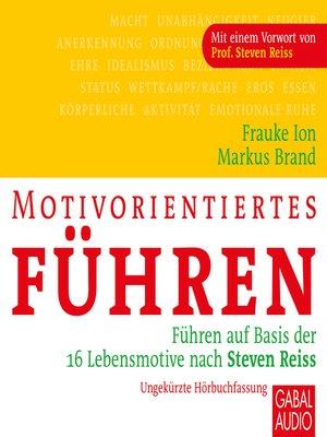 cover image of Motivorientiertes Führen