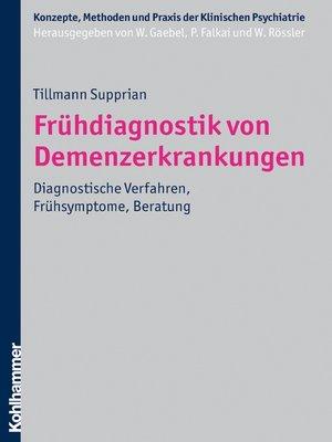 cover image of Frühdiagnostik von Demenzerkrankungen