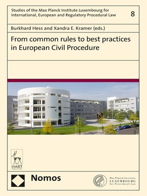 cover image of From common rules to best practices in European Civil Procedure