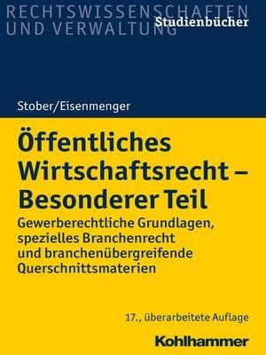 cover image of Öffentliches Wirtschaftsrecht--Besonderer Teil