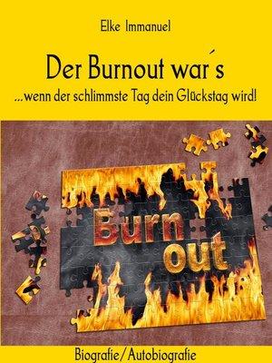 cover image of Der Burnout war´s