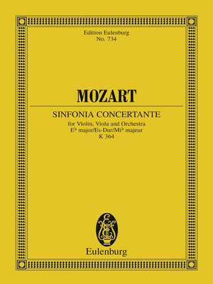 cover image of Sinfonia concertante Eb major