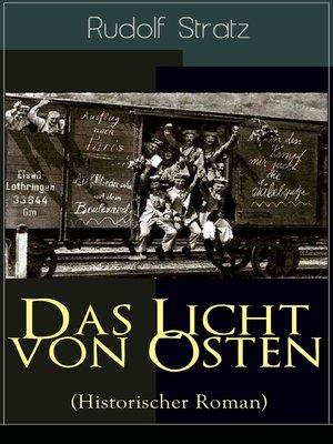 cover image of Das Licht von Osten (Historischer Roman)