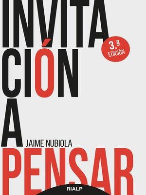 cover image of Invitación a pensar