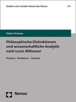 cover image of Philosophische Distinktionen und wissenschaftliche Analytik nach Louis Althusser