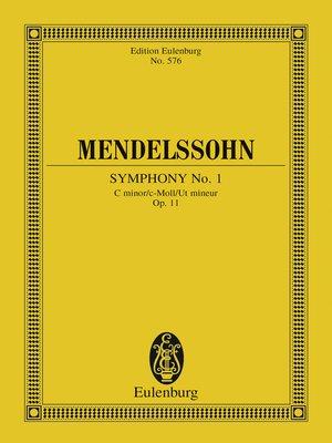 cover image of Symphony No. 1 C minor