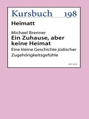 cover image of Ein Zuhause, aber keine Heimat
