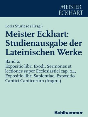 cover image of Meister Eckhart