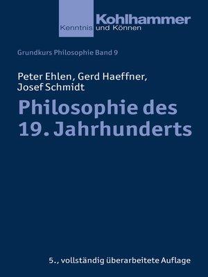 cover image of Philosophie des 19. Jahrhunderts