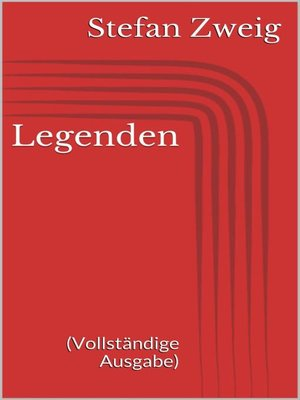 cover image of Legenden (Vollständige Ausgabe)