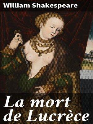 cover image of La mort de Lucrèce