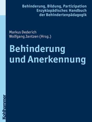 cover image of Behinderung und Anerkennung