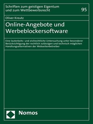 cover image of Online-Angebote und Werbeblockersoftware