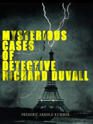 cover image of Mysterious Cases of Detective Richard Duvall