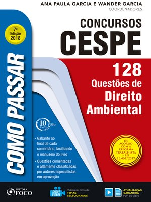 cover image of direito ambiental: 128 questões de direito ambiental