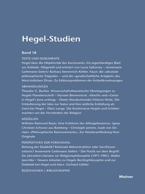 cover image of Hegel-Studien / Hegel-Studien Band 18