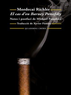cover image of El cas d'en Barney Panofsky