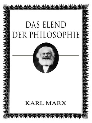 cover image of Das Elend der Philosophie