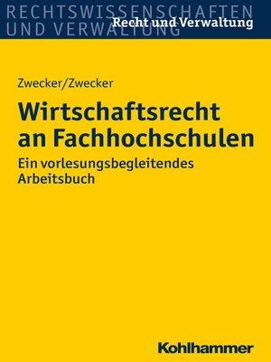 cover image of Wirtschaftsrecht an Hochschulen