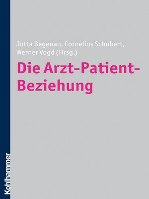 cover image of Die Arzt-Patient-Beziehung