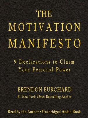 cover image of The Motivation Manifesto