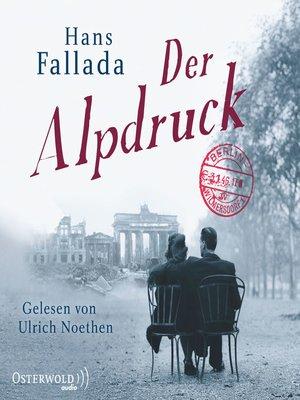 cover image of Der Alpdruck
