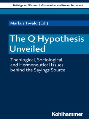 cover image of The Q Hypothesis Unveiled