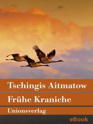 cover image of Frühe Kraniche