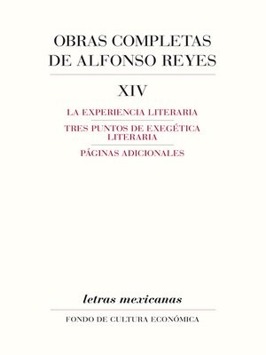 cover image of Obras completas, XIV