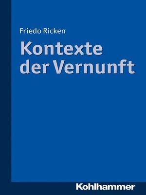 cover image of Kontexte der Vernunft