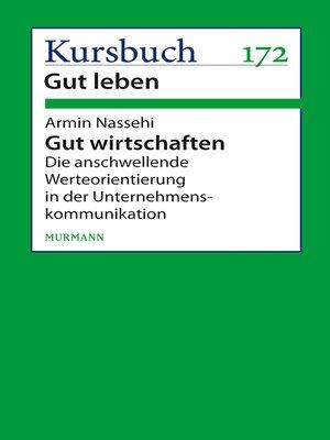 cover image of Gut wirtschaften