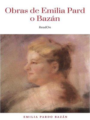 cover image of Obras--Colección de Emilia Pardo Bazán