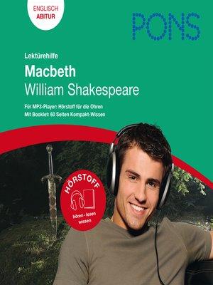 cover image of PONS Lektürehilfe--William Shakespeare, Macbeth