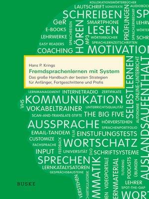 cover image of Fremdsprachenlernen mit System