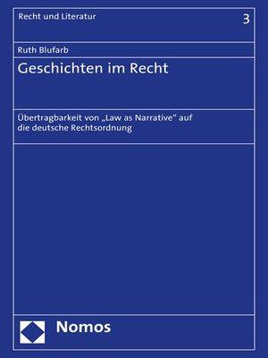 cover image of Geschichten im Recht