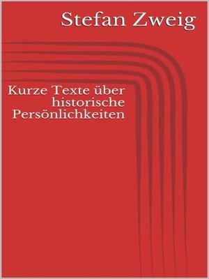 cover image of Kurze Texte über historische Persönlichkeiten