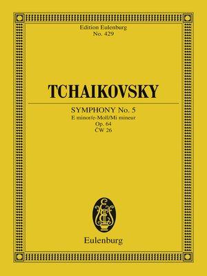 cover image of Symphony No. 5 E minor