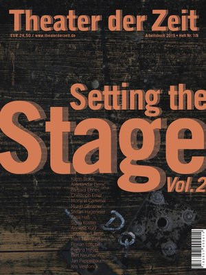 cover image of Bild der Bühne, Volume 2 / Setting the Stage, Volume 2