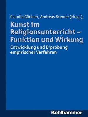 cover image of Kunst im Religionsunterricht--Funktion und Wirkung