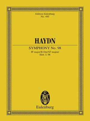 cover image of Symphony No. 98 Bb major