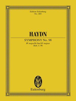 cover image of Symphony No. 98 Bb major