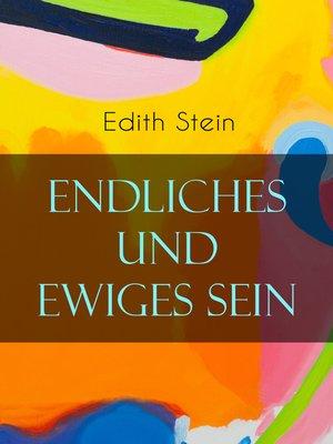 cover image of Endliches und ewiges Sein