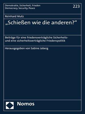 """cover image of """"Schießen wie die anderen?"""""""