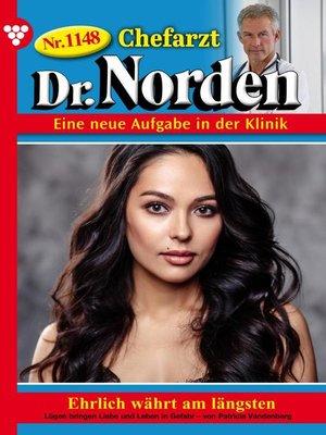 cover image of Chefarzt Dr. Norden 1148 – Arztroman