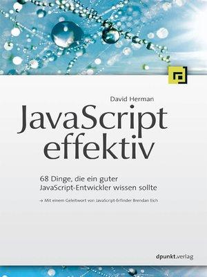 cover image of JavaScript effektiv